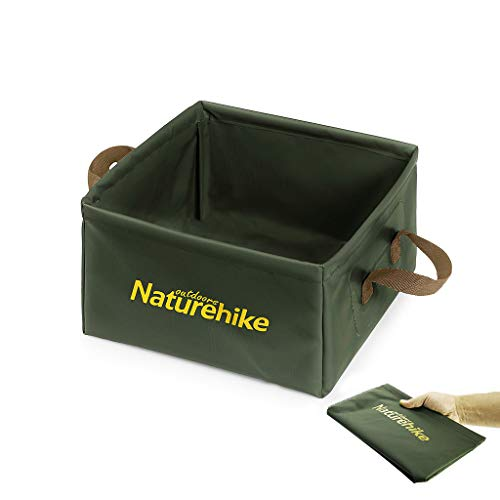 Naturehike 布バケツ 屋外用 折りたたみ式四角いバケツ アウトドア用携帯軽量化 折り畳み式 洗面器 水の入れ物 小物入れ 洗いおけ