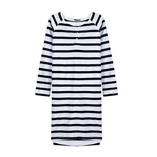 Eastery dames nachthemd lange mouwen T vriendelijke jurk dames pyjama jurk eenvoudige stijl thuis en vrije tijd comfortabel trainingspak home mode comfortabel pyjama