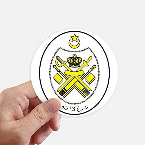 DIYthinker Malasia Asia Nacional del Emblema Redondas 10cm Pared Maleta portátil Motobike Decal...