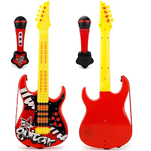 GST Instrumentos de Cuerda para niños Mini 4 Cuerdas Guitarra, Guitarra eléctrica...