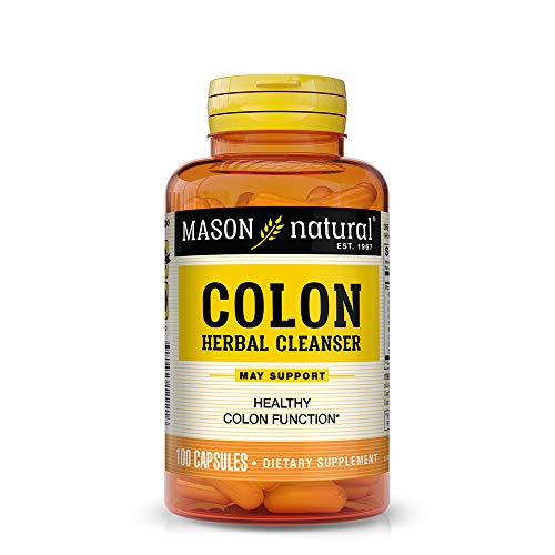 Mason Natural, Colon Herbal Cleanser, 100 Capsules (Pack of 3), Dietary Supplement Supports Digestive Health with Soluble Fibers, Probiotics and Herbs