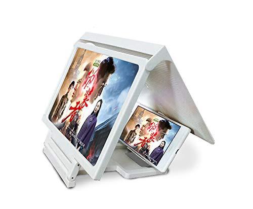 Ediand Lupa de Pantalla Lupa para teléfono Inteligente Lupa de Pantalla de Cine en casa 3D con Soporte para teléfono práctico Soporte Plegable Soporte para Proteger los Ojos