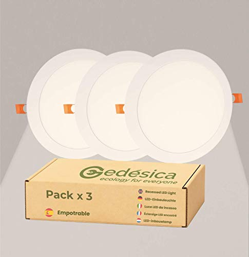 PACK X3, Downlight Led, Panel Led techo, Lamparas de techo, Plafon Led,...