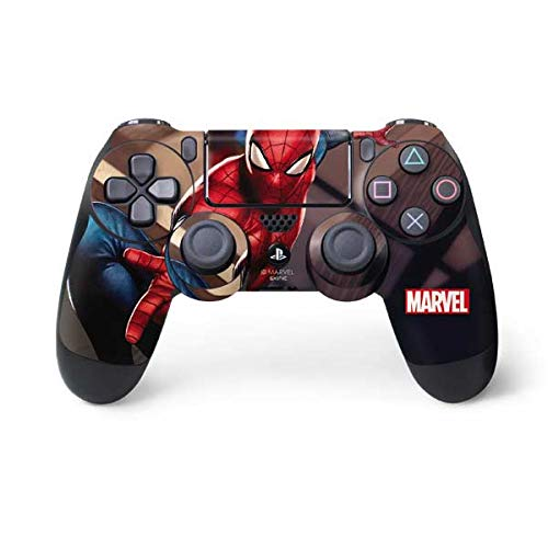Skinit Decal Gaming Skin for PS4 Controller - Officially Licensed Marvel/Disney Spider-Man in City Design