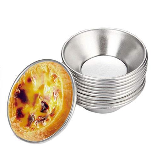 Xloves 24 Stück Rührkuchenform, Pasteis De Nata Backform für Kuchen Rund