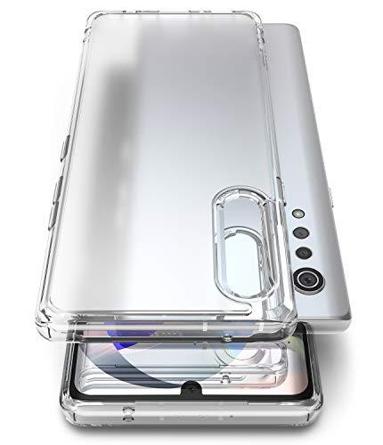 Ringke Fusion No Smudge Hülle für LG Velvet Hülle [Transparent] Hartplastik Durchsichtig Rückseite mit Flexibel TPU Dämpfer Rahmen