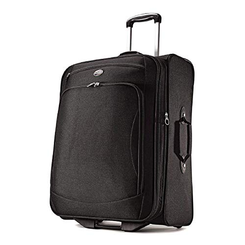 American Tourister Luggage Splash 21 Upright Suitcase, Black, 21 Inch