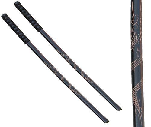 LEGENDARY-YES 2 Pack 40'' Wooden Samurai Katana Training Sword Perfect with Wrap for Samurai Warriors to Train Cosplay