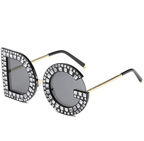 Outdoor sport houlian winkel Gepersonaliseerde Brief Zonnebril Vrouwen, Diamant Zonnebril Mode Zonnebril