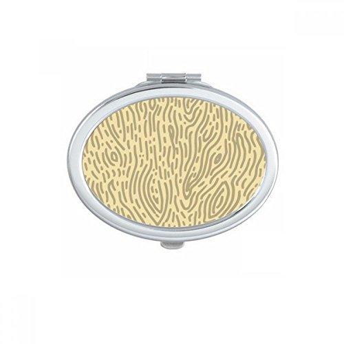 DIYthinker Modèles Jaunes d'écorce d'empreintes digitales Ovale Maquillage Compact Miroir de Poche Portable Mignon Petit Miroirs Main Cadeau Multicolore