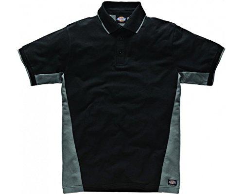 Dickies zweifarbiges Polo Shirt grau/schwarz GYB3XL, SH2004