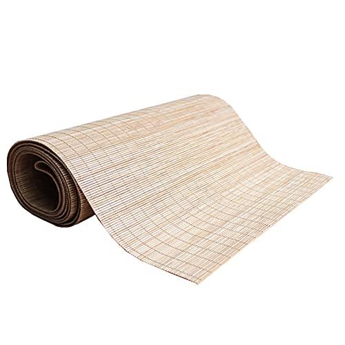 LJQQ Camino Mesa Tapete de Bambú 100% Natural, Camino de Mesa de Bambú Antiarrugas Duradero Cortable, Hogar Cocina Tienda de Bebidas Decoración Camino de Mesa (Size : 30cm x 200cm)