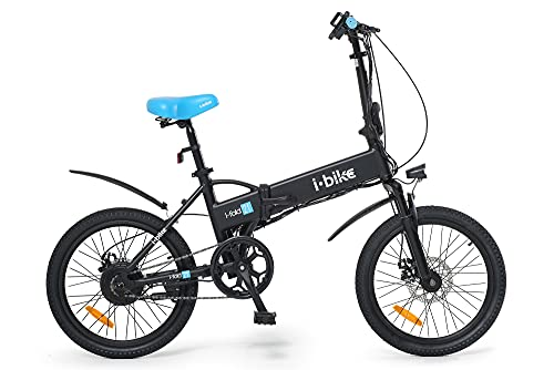 i-Bike i- Fold 21 ITA99, Bicicletta elettrica Ripiegabile Unisex Adulto, Nero, Unica