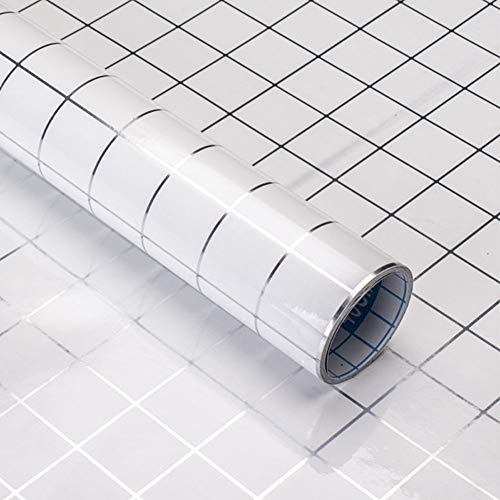 Byrhgood 5 Metros Etiqueta de Pared de PVC autoadhesiva Auto Adhesivo Fondo de Pantalla Cocina Mosaico Pegatinas de Azulejos Aparatos de Agua para la decoración de la Pared para el hogar (Color : 1C)