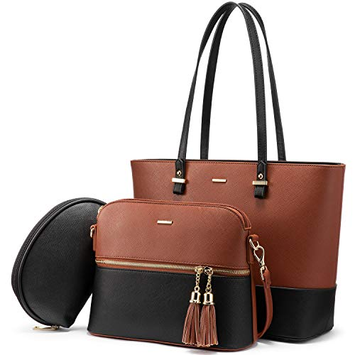 Handbags for Women Shoulder Bags Tote Satchel Hobo 3pcs Purse Set