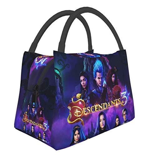 GIPHOJO Lunch Bag Descendants 3 Tote Bags Lunch Boxes for Boys Girls Teens Adults Mens Womens Lunch Box Insulated Lunch Container Drinks Holder Organizer for School Work Picnic Fishing Gift