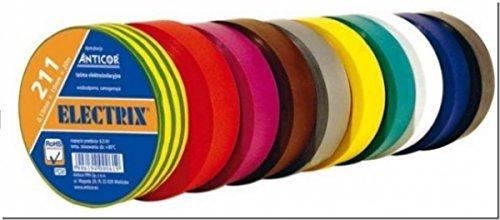 Elektrix 211 VDE Elektrikerklebeband Set 10 Farben 15mm x 10mtr