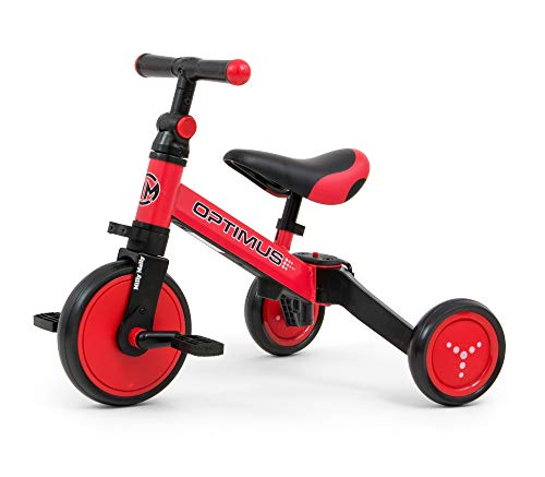 Find Discount Milly Mally 5901761125092 Ride on 3-in-1 Optimus Red