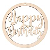 Amosfun Happy Birthday Wooden Sign Letters Wall Decorations Vintage Rustic Birthday Hanging Ornament