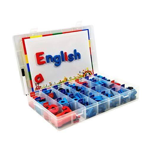 FLORMOON 104 Piezas Letras magnéticas para el Aula Letras del Alfabeto de Espuma Divertido Kit de Alfabeto de Doble Lado Aprendizaje de Juguetes educativos para niños niños (Letras)
