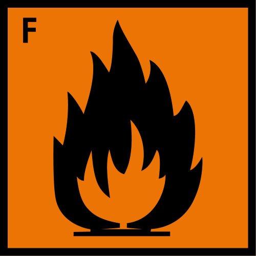 Gefahrgutschild aus Folie - Leicht entzündlich - 40 x 40 cm