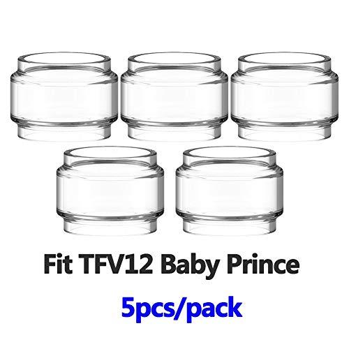 RUIYITECH 5 PZ lampadina tubo di vetro per SMOK TFV8 BABY/Vape pen 22/TFV12 principe/TFV12 bambino principe/TFV8 grande bambino/Kensei 24/maglia 24 (per tfv12 baby prince)