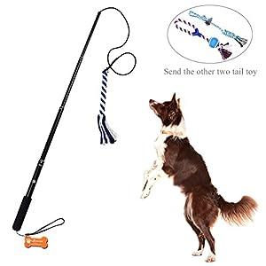Lalawow Teaser jouet pour chien pour entraînement exercice léger en alliage d'aluminium