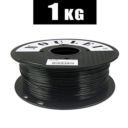 3D-Drucker Glühfaden PLA 1.75mm 1KG Bunte Qualitäts-Kunststoff-Druckmaterial 6 Farben Weiß Schwarz PLA Filament 3D Pen Filament Refills (Color : Black)