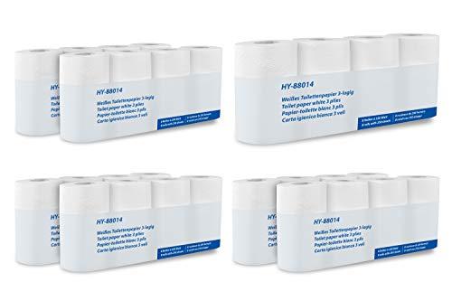 Hypafol Toilettenpapier motivgeprägt | 96 oder 192 Rollen Klopapier, Vorratspack | extra weich und reißfest | aus hochwertigem super weißem Zellstoff | 3-lagig | (56 Rollen)
