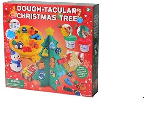 Set di plastilina con accessori I Gioco di plastilina con utensile per impastare per giochi fantasiosi e creativi, idee regalo per Natale I (albero di Natale)
