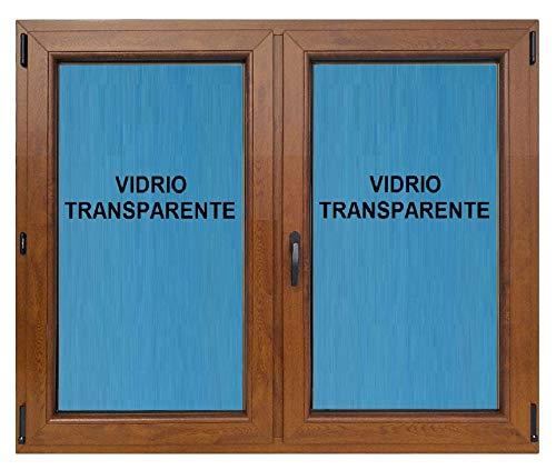Ventana pvc 1200x1000 oscilobatiente Roble Dorado 2h