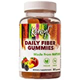Konsyl Daily Fiber Gummies - Helps Support Digestive Health+ - Vegan Fiber Supplement Gummies for Adults - All-Natural Fruit Flavor (60 Count)