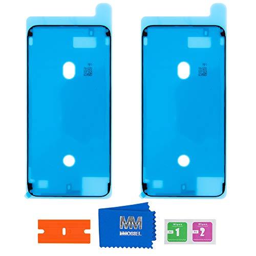 MMOBIEL 2X wasserdichte Folie Klebefolie LCD Display Adhesive Sticker Kompatibel mit iPhone 8 Plus 5.5 inch (Schwarz)