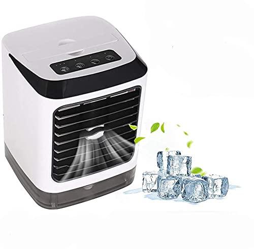 BESTINE Ventilador Refrigeración del Humidificador Aire Acondicionado, Mini Cooler Desktop USB Portátil 4-en-1 L Pequeño Ventilador Aire para El Hogar Al Aire Libre