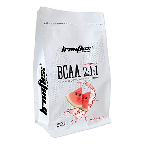 Iron Flex BCAA 2-1-1-1 Pack - Branched Chain Amino Acids in Powder - Muscle Regeneration - Anticatabolic (Watermelon, 1000g)