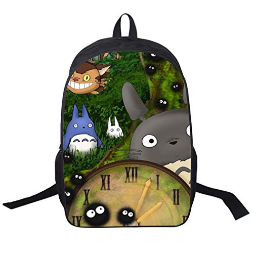 WANHONGYUE My Neighbor Totoro Anime Immagine Zaino Scuola Borse a Zainetto Cartella Borsello da Viaggio Backpack Studenti /16