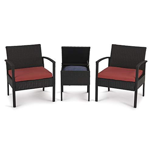 Altgus Outdoor Furniture All-Weather Patio Rattan Chair Bistro Outdoor Chair Seat Best Choice for Patio, Backyard, Porch, Garden, Poolside, Modern Design