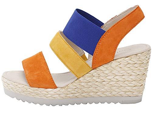 Gabor Shoes Gabor Basic, Sandalia con Pulsera Mujer, Multicolor (Multicolour 10), 36 EU