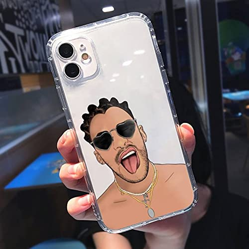 Bad Bunny Phone Case for iPhone 11 12 Pro XS MAX XR X 7 8 6 Mini Plus SE 2021 Soft Silicone Phone Cover 25