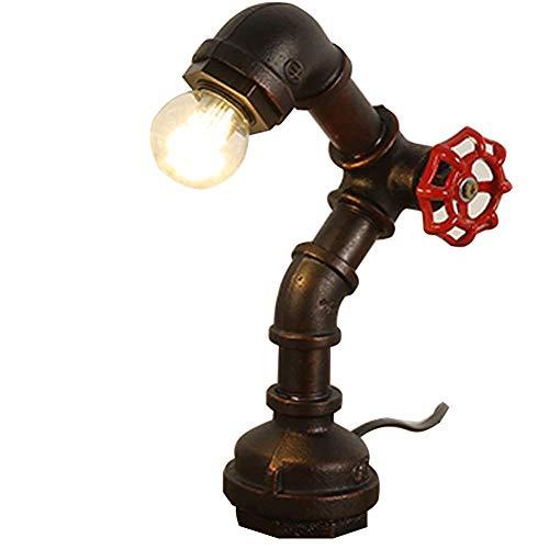 INJUICY Loft Hierro Base Steampunk Lámpara Escritorio Antig