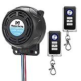 Rupse Système d'Alarme Moto Alarme de Vibration Étanche Antivol à Distance sans Fil avec Double...