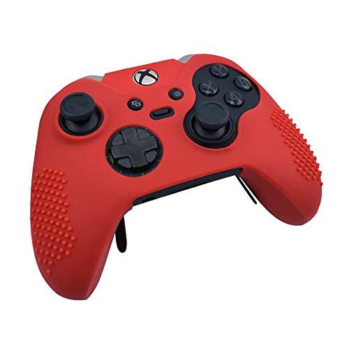 OSTENT Capa protetora macia de borracha de silicone para controle de Xbox One Elite, cor vermelha