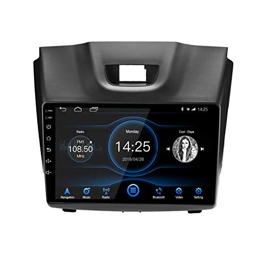 LEXXSON Android 10.1 Autoradio per Isuzu D-MAX 2012-2018, MU-X 2013-2017 | Radio AM FM da 9 pollici GPS Wifi Bluetooth Controllo del volante MirrorLink Impostazione EQ Ingresso Telecamera Posteriore