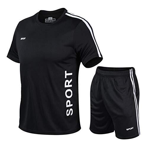 POMU Erwachsene Fußballanzug Sport Laufanzug Kurzarm Marathon Anzug Fußball Sportbekleidung Tennisanzug Gr. XX-Large, 8
