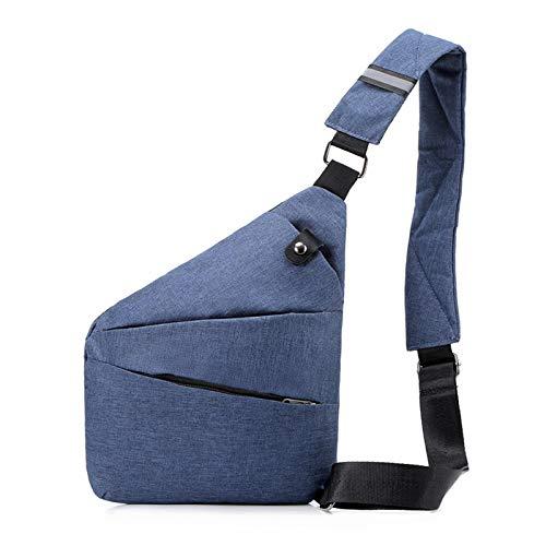 Nowbetter Borsa a tracolla da uomo, antifurto, da viaggio, borsa a tracolla, borsa da viaggio, piccolo zaino blu, Blu (Blu) - URVPCIITQ0