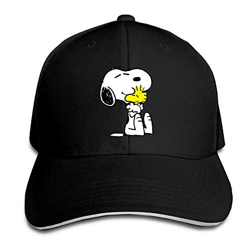 SHUIFENG66 Unisex Snoopy Peanut Adjustable Snapback Baseball Cap Pink One Size,Hüte, Mützen & Caps