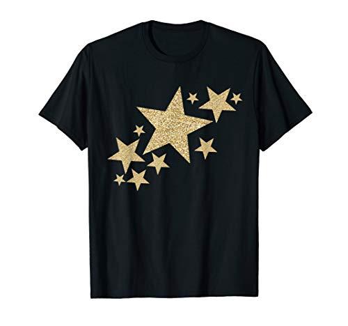Gold Glitzer Sterne Streak T-Shirt