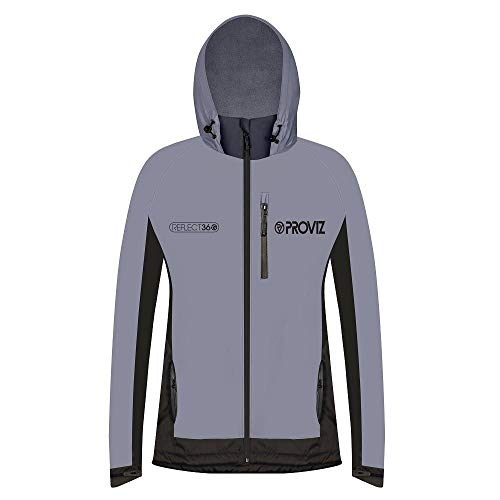 Proviz Damen REFLECT360 Fleece-gefütterte 100% reflektierende und Wasserdichte Outdoor-Jacke