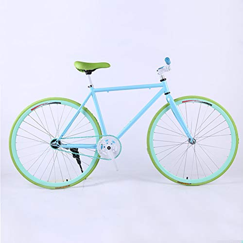 XNEQ 24/26 Pollici Light - Fixed Gear Bike, Single Speed Fixie Bicicletta, Acciaio al Carbonio Telaio e Forcella, per Uomini e Donne, Studenti,8,26 inch
