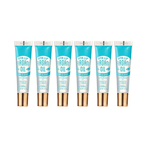 6-PACKS Kiss Broadway Clear Lip Gloss (Argan Oil)